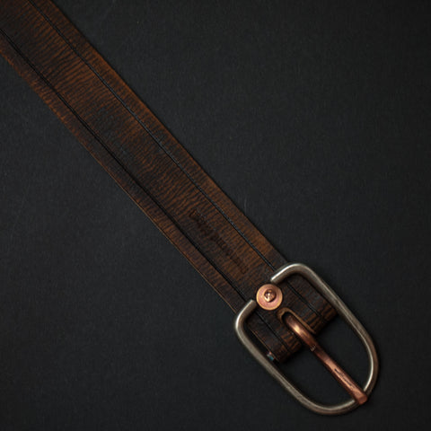 Cause & Effect Ditch Plains Brown Stripe Leather Belt at The Lodge