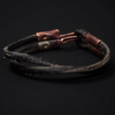 Cause & Effect Black Double Ace Leather Bracelet at The Lodge