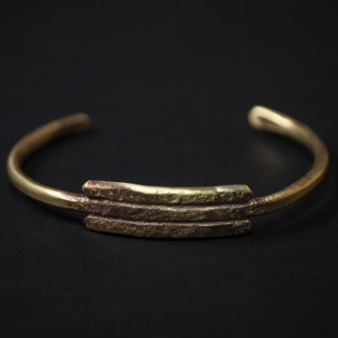Cause & Effect Buckler Brass Cuff Bracelet- The Lodge
