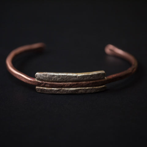 Cause & Effect Buckler Copper & Silver Cuff Bracelet at The Lodge