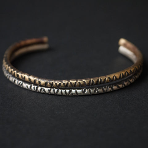 Cause & Effect Double Trouble Sterling and Brass Metal Bracelet at The Lodge