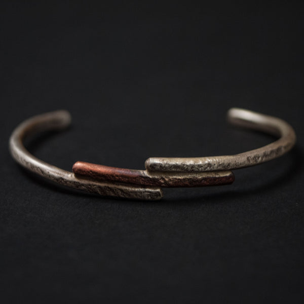 Cause & Effect Flint Sterling Silver & Copper Cuff at The Lodge