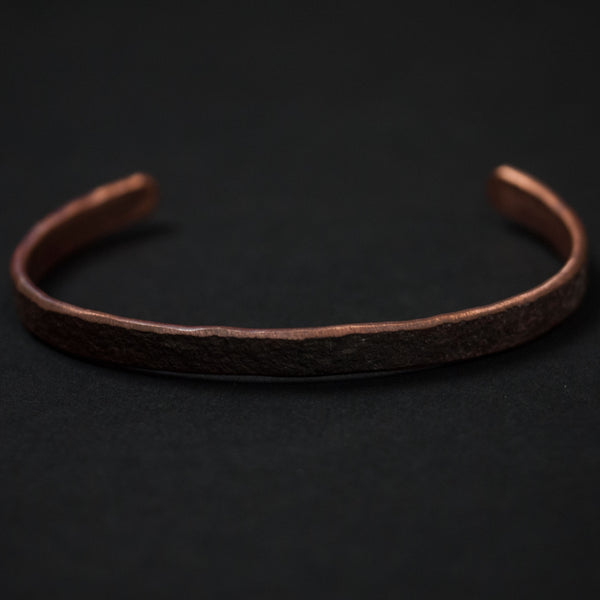 Cause and Effect Thin Oxidized Edge Copper Cuff at The Lodge