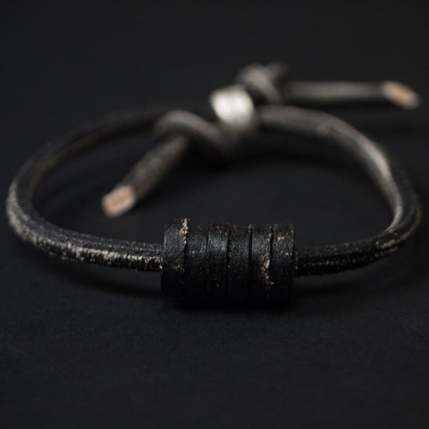 Cause & Effect On a Roll Black Leather Bracelet at The Lodge