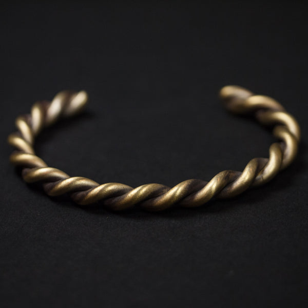 Cause & Effect Montford Braided Brass Cuff Bracelet at The Lodge