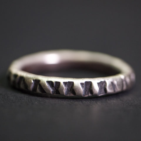 Cause & Effect Sterling Silver Notches Men's Ring at The Lodge