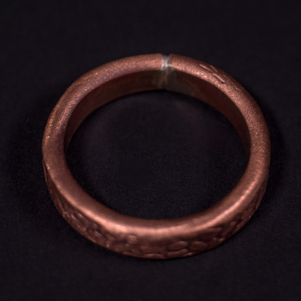 COPPER THE ROCK METAL RING