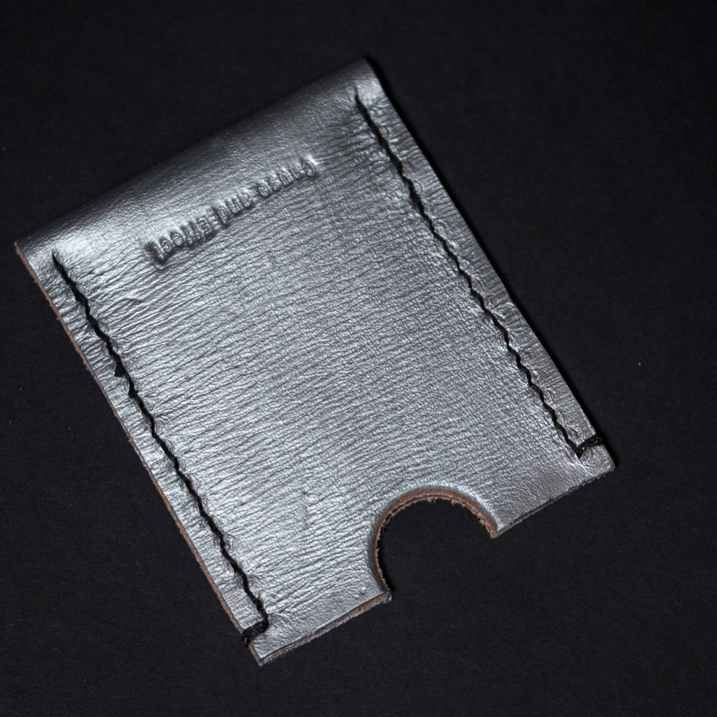 SILVER PAINTED LEATHER RODEO WALLET CAUSE & EFFECT