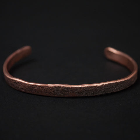 Cause Effect Rough Tumble Thin Copper Bar Cuff at The Lodge