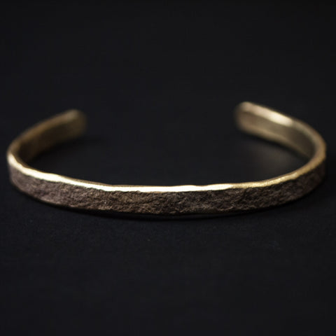 Cause & Effect Smashed Brass Bar Cuff at The Lodge