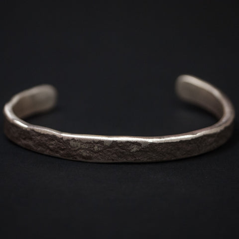 Cause Effect Rough & Tumble Wider Silver Bar Cuff at The Lodge