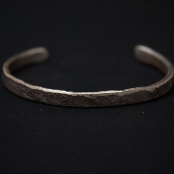 Cause Effect Rough & Tumble Thin Silver Bar Cuff at The Lodge