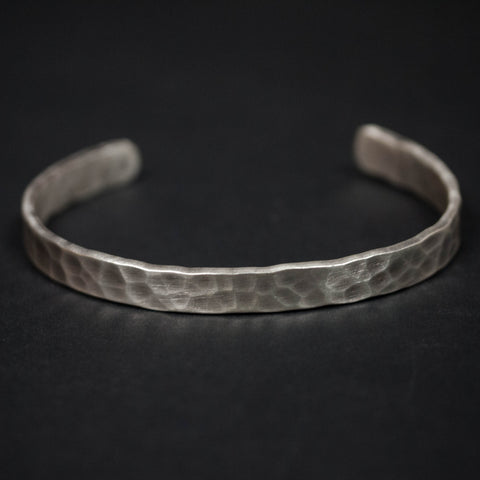 DIMPLED STERLING SILVER BRACELET - THE LODGE  - 1