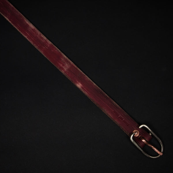 Cause & Effect Slim Shady Red Leather Belt at The Lodge