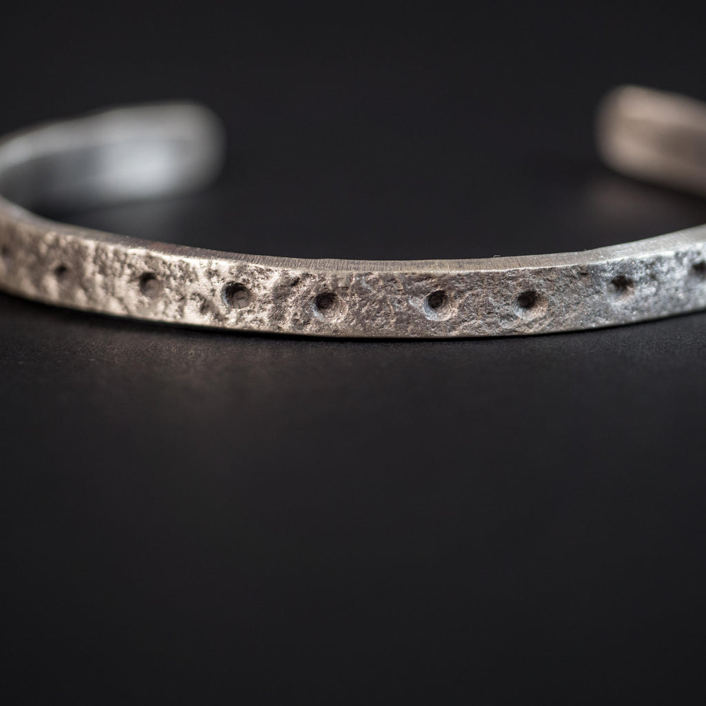 CONSTELLATIONS SILVER  METAL CUFF BRACELET
