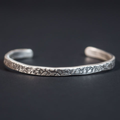 Cause & Effect Sterling Silver The Rock Metal Cuff Bracelet at The Lodge