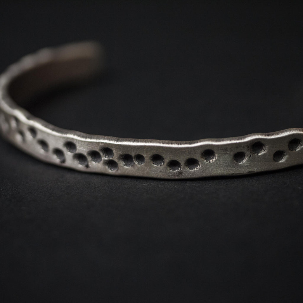 STERLING SILVER 19TH HOLE HAND-MADE METAL BRACELET
