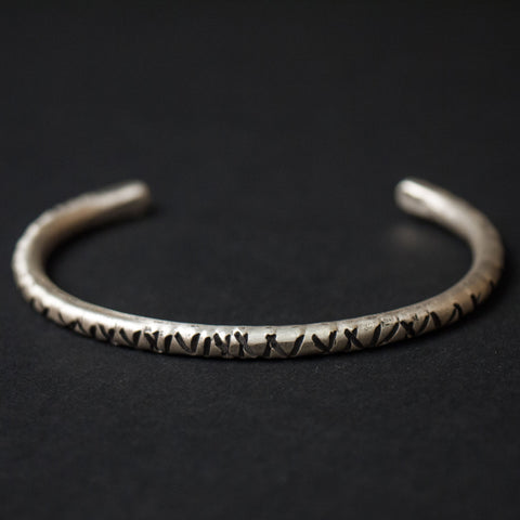 Cause & Effect Sterling Silver Notches Metal Bracelet at The Lodge