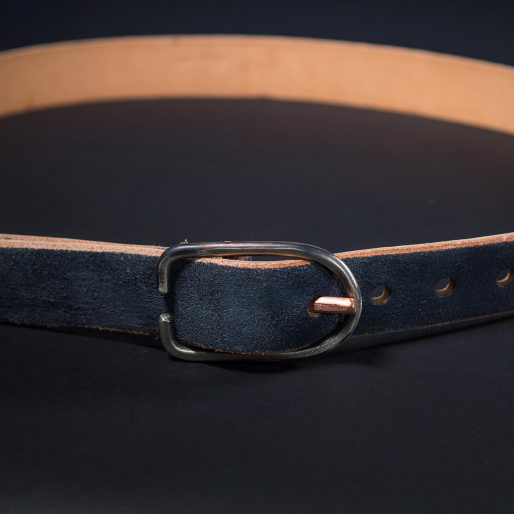 CHARCOAL SUEDE LEATHER BELT CAUSE & EFFECT