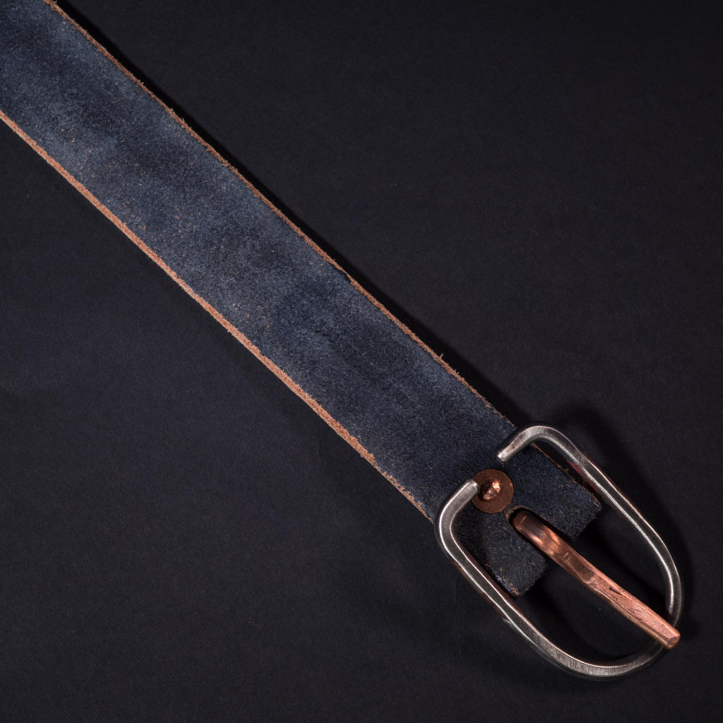 Cause & Effect Charcoal Suede Men's Leather Belt at The Lodge