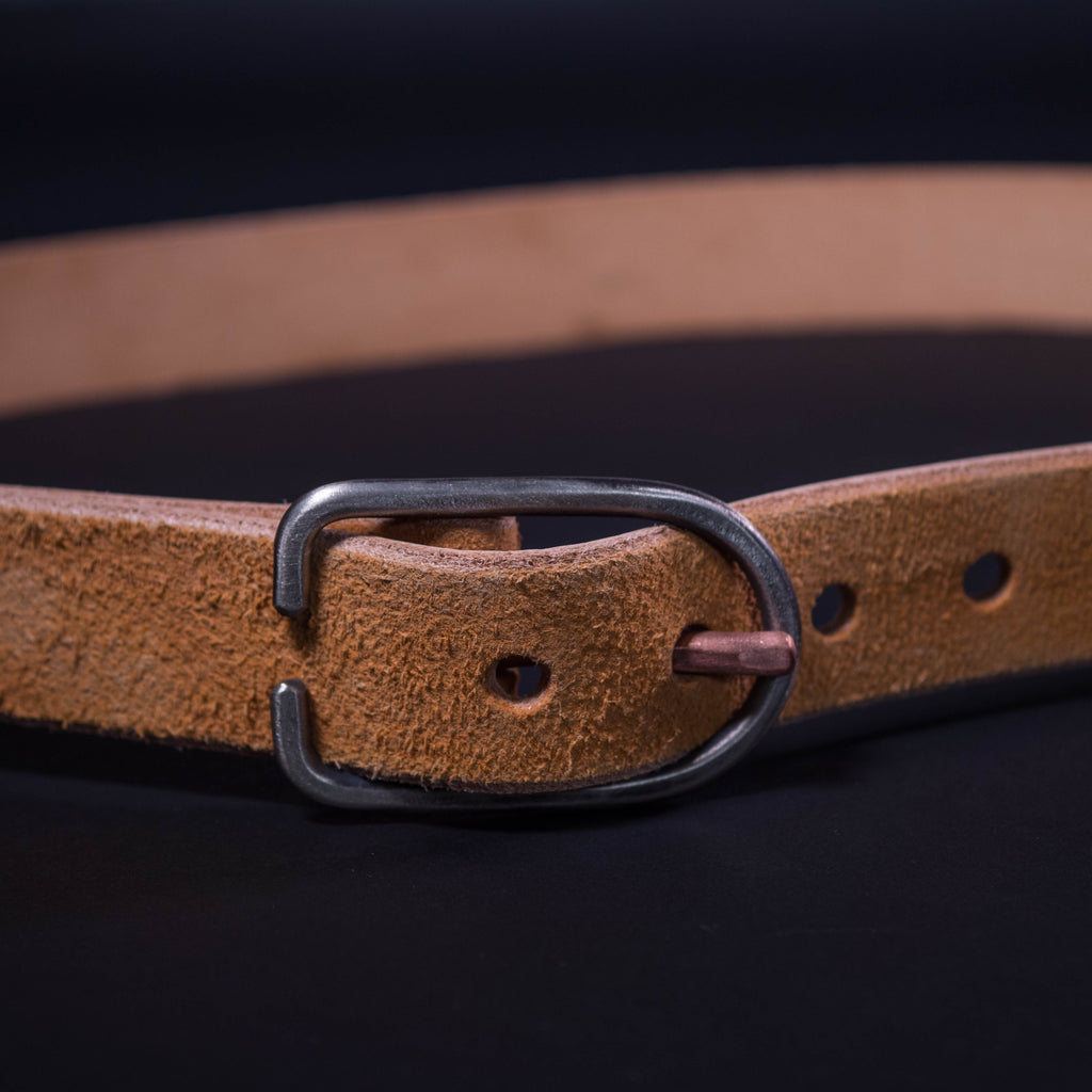 BROWN SUEDE LEATHER BELT CAUSE & EFFECT