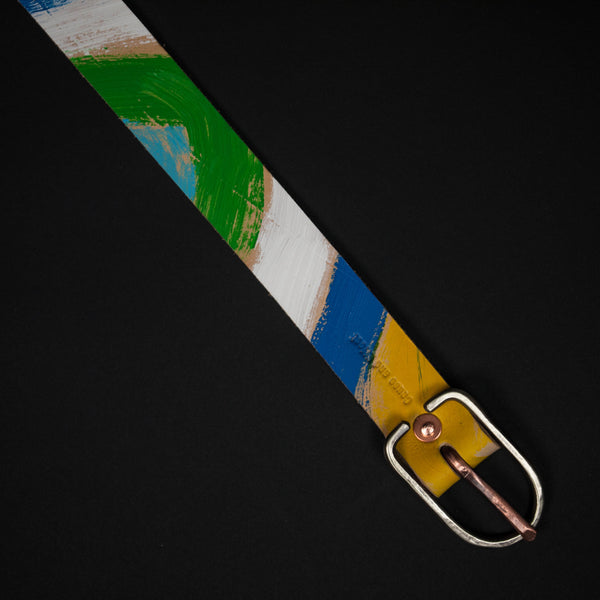 SUNRISE PAINTED LEATHER BELT - THE LODGE  - 1