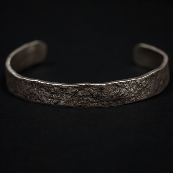 HAMMERED STERLING SILVER BAR CUFF - THE LODGE  - 1