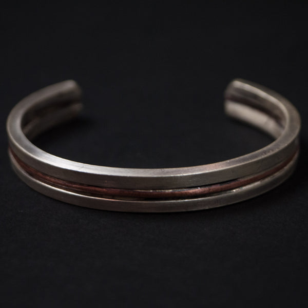 Cause & Effect Sterling Silver and Copper Cuff Bracelet at The Lodge