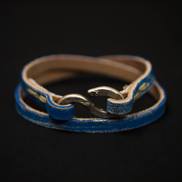 Cause + Effect Blue Triumph Leather Bracelet at The Lodge