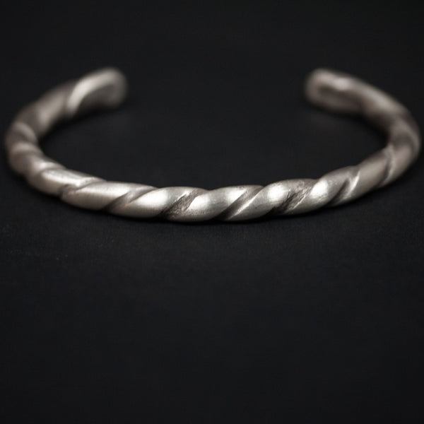 TWISTED STERLING SILVER BAR CUFF - THE LODGE  - 1