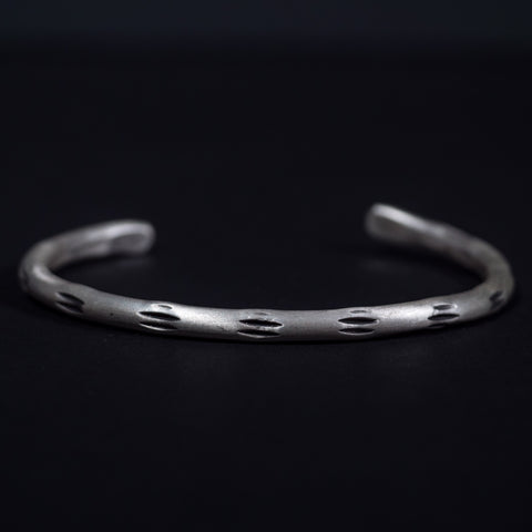 Cause & Effect Sterling Silver Warrior Cuff Men's Bracelet at The Lodge Man Shop