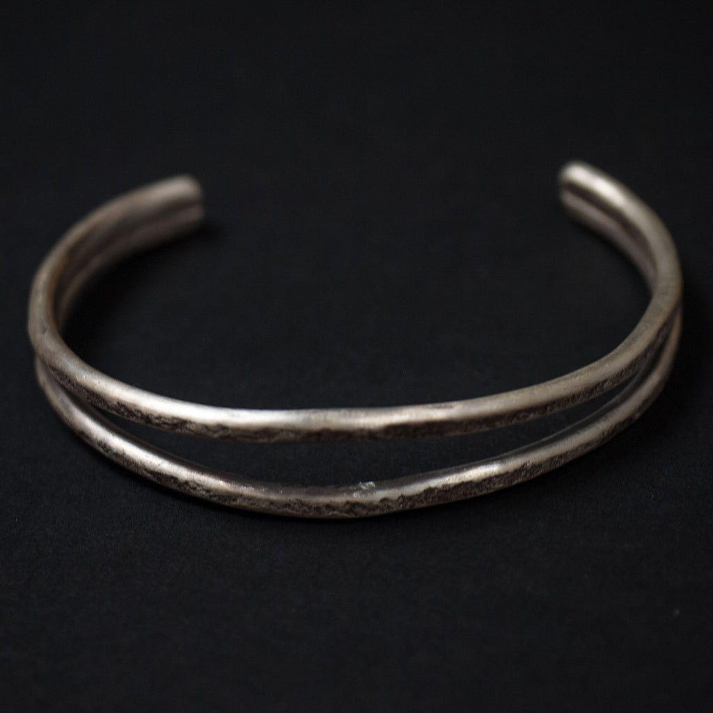WHALES MOUTH ANTIQUED STERLING SILVER CUFF BRACELET