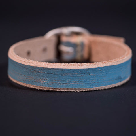 Cause & Effect Blue Leather Wristbelt at The Lodge