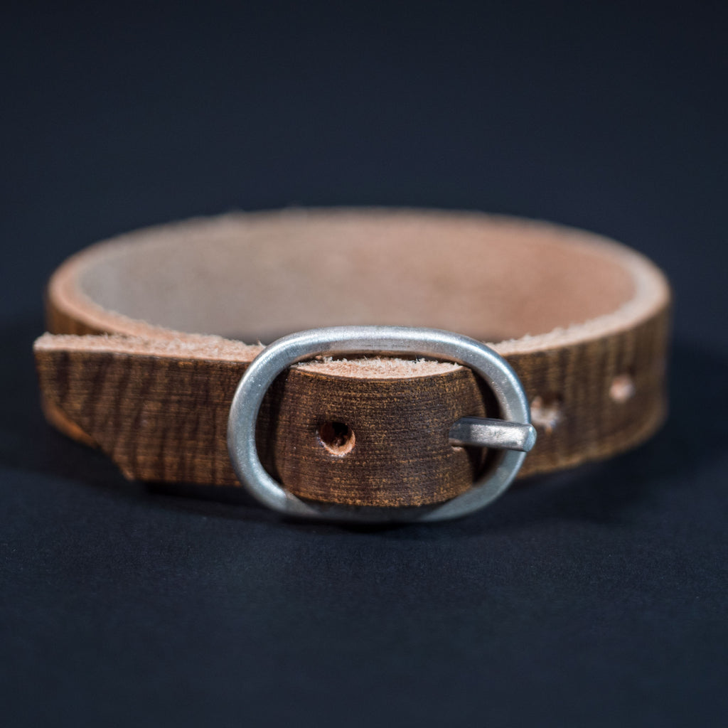 BROWN LEATHER WRISTBELT BRACELET