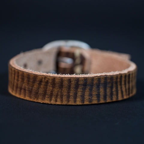 Cause & Effect Brown Leather Wristbelt at The Lodge
