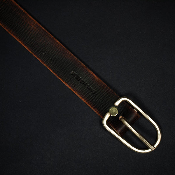 DISTRESSED LEATHER BELT BROWN - THE LODGE  - 1