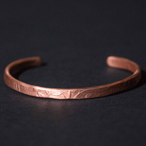 Cause & Effect Copper Fall Leaves Bracelet Cuff at The Lodge