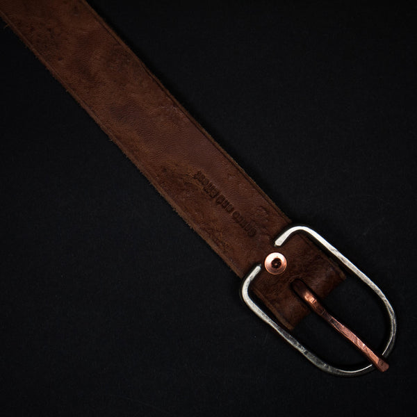 TAN WEATHERED LEATHER BELT - THE LODGE  - 1