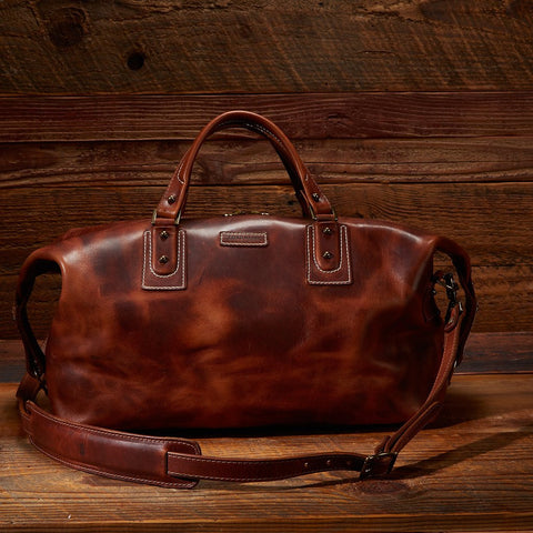 Coronado Leather Boston Bag Dublin Tan at The Lodge