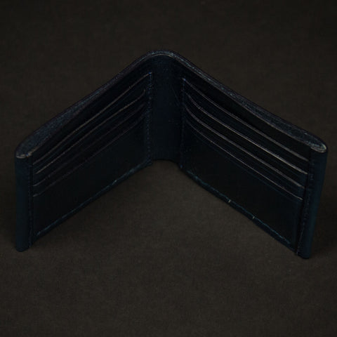 NAVY CORONADO HORWEEN LEATHER BILLFOLD WALLET - THE LODGE  - 1