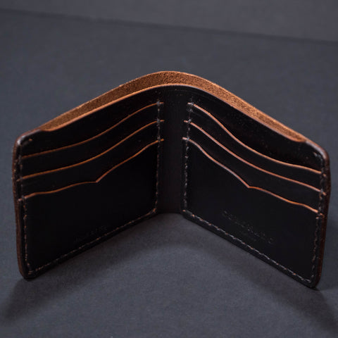 Coronado Leather Black Horween Billfold Wallet at The Lodge
