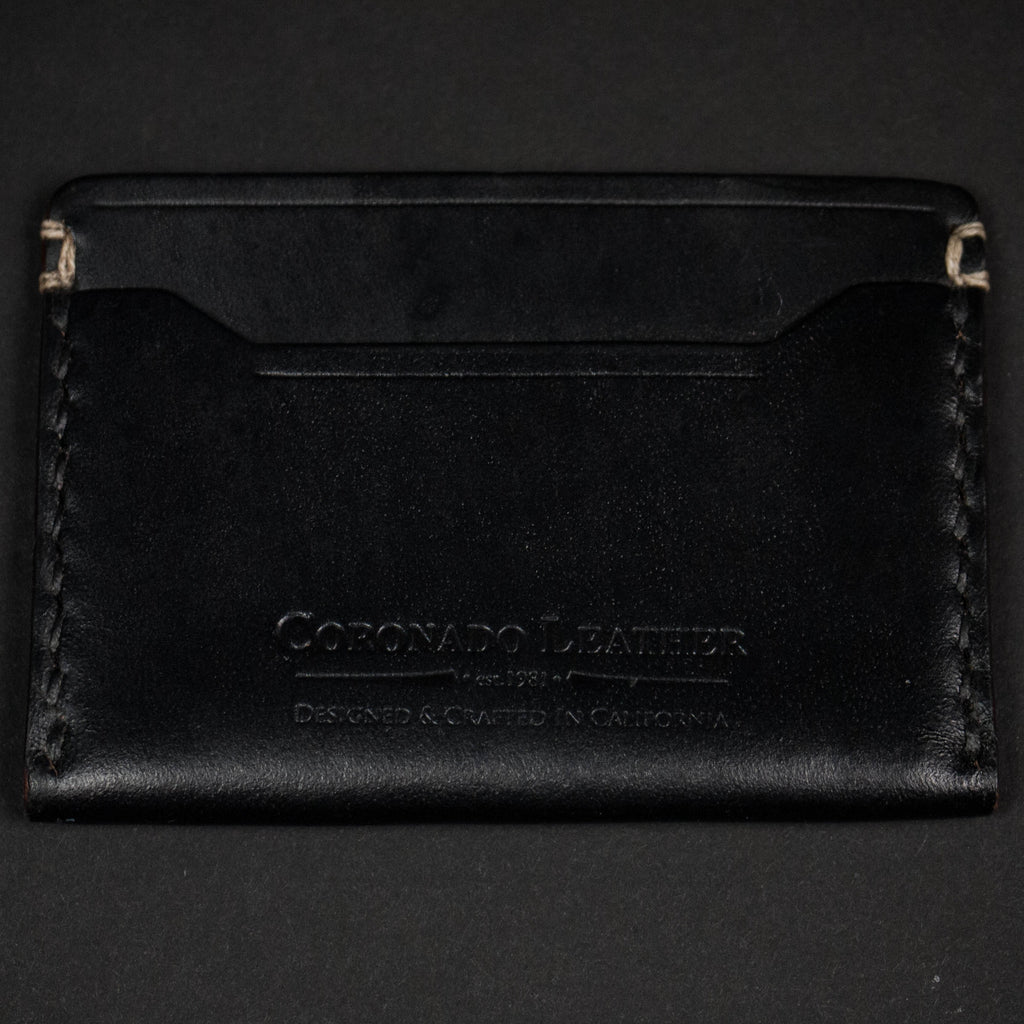 CORONADO SLIM CARD WALLET #10 BLACK HORWEEN - THE LODGE  - 2