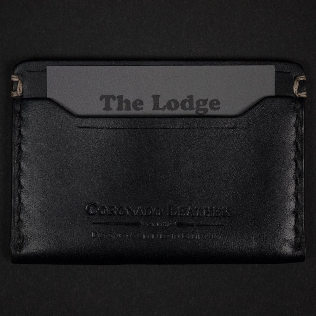 CORONADO SLIM CARD WALLET #10 BLACK HORWEEN - THE LODGE  - 6