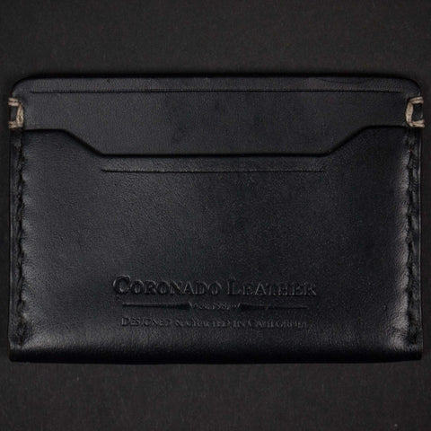 CORONADO SLIM CARD WALLET #10 BLACK HORWEEN - THE LODGE  - 1