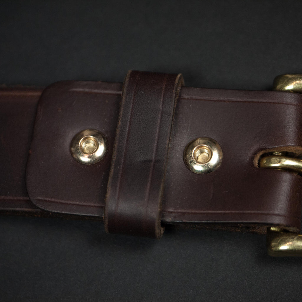 CORONADO LEATHER BELT BROWN HORWEEN - THE LODGE  - 5
