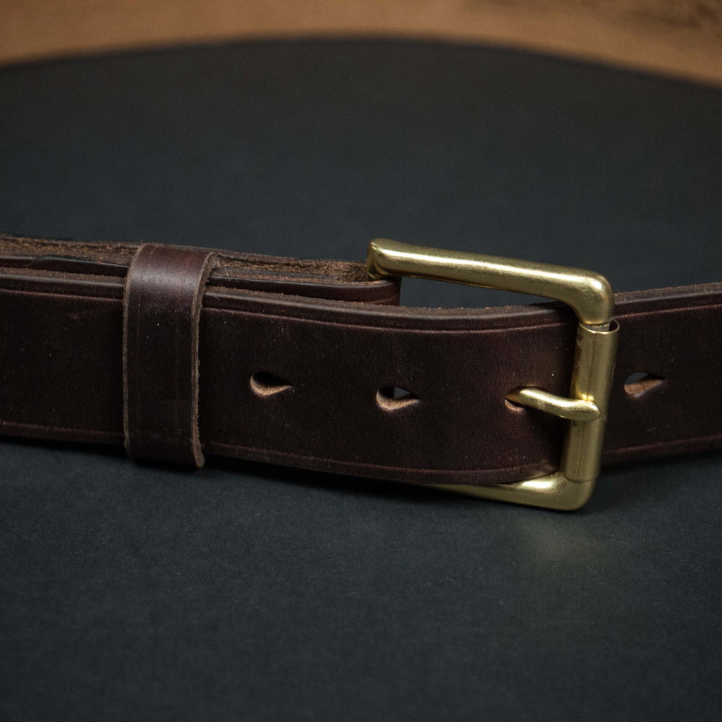 CORONADO LEATHER BELT BROWN HORWEEN - THE LODGE  - 3