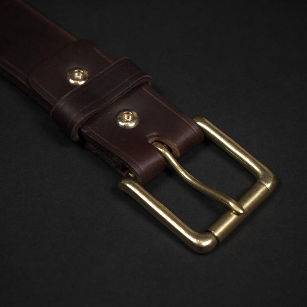 CORONADO LEATHER BELT BROWN HORWEEN - THE LODGE  - 4