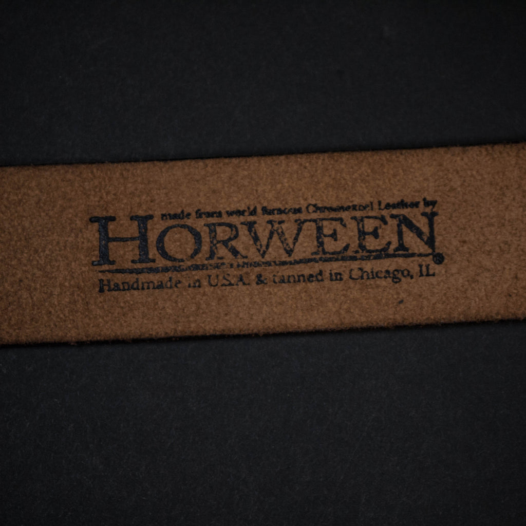 CORONADO LEATHER BELT BROWN HORWEEN - THE LODGE  - 6