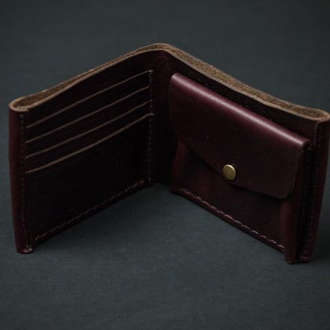 RUSSET CORONADO COIN BILLFOLD HORWEEN LEATHER - THE LODGE  - 1