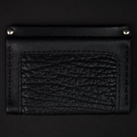 Coronado Black Bison Leather Card Wallet at The Lodge